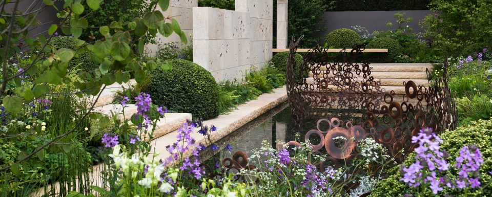 Gold Medal winning arts and crafts inspired garden