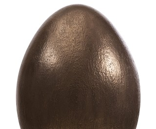 Big Copper Coloured Egg With White Background