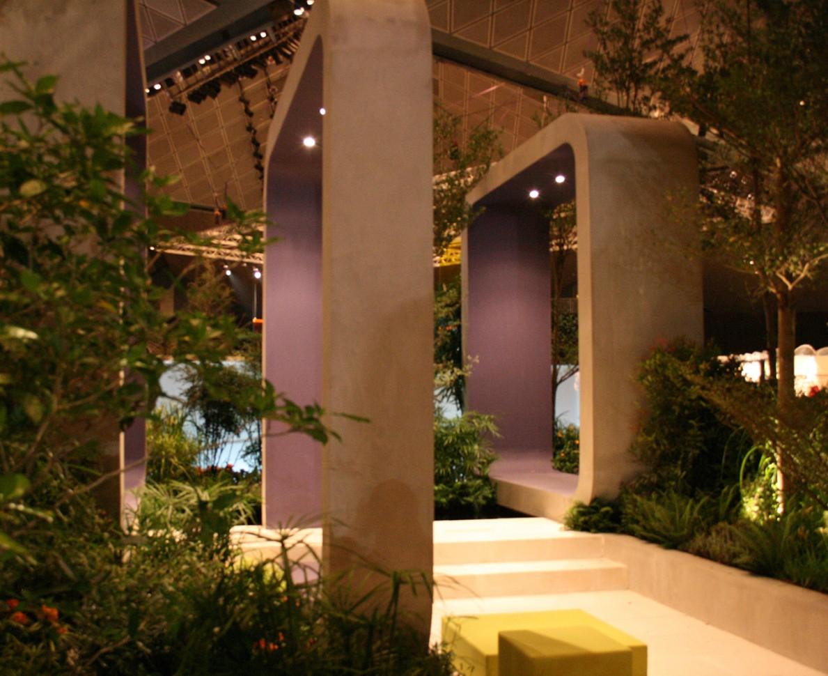 Concrete frames - Singapore Garden Festival 2008