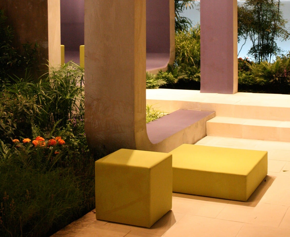 Yellow cube seating - Singapore Garden Festival 2008