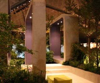 Singapore Garden Festival 2008 - sculptural arches acting as frames
