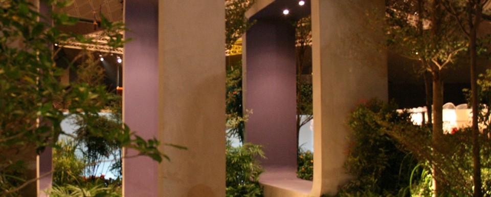 Singapore Garden Festival 2008 - sculptural arches acting as frames