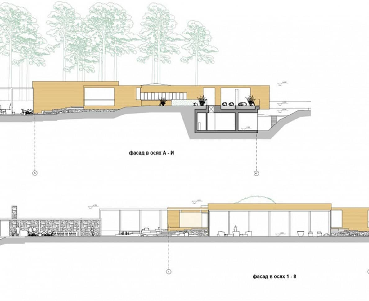 Architects plans of the villa in Kyiv