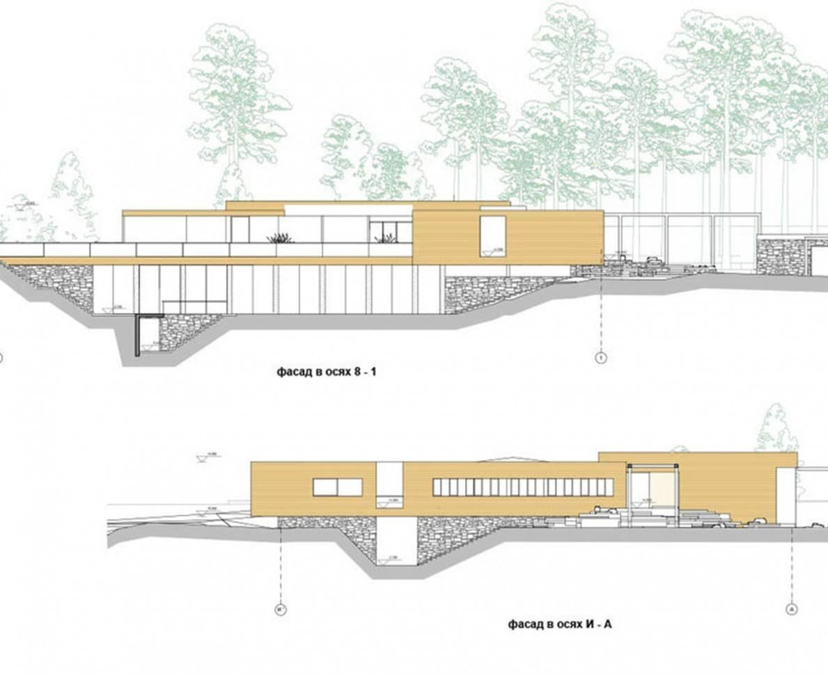 Architects plans of the Kyiv villa