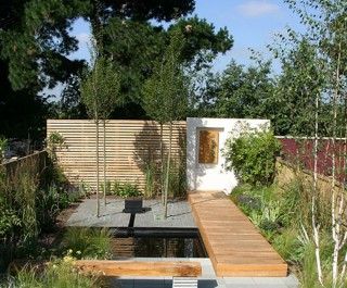 2005 Society of Garden Designers competition winner - a garden designed for a new build house