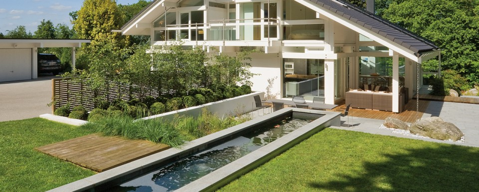2008 Association of Professional Landscapers Supreme Award winner - linear pond and garden by the White Huf House
