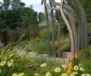 2008 British Association of Landscape Industries Awards Domestic Garden winner - garden with Stamen sculpture