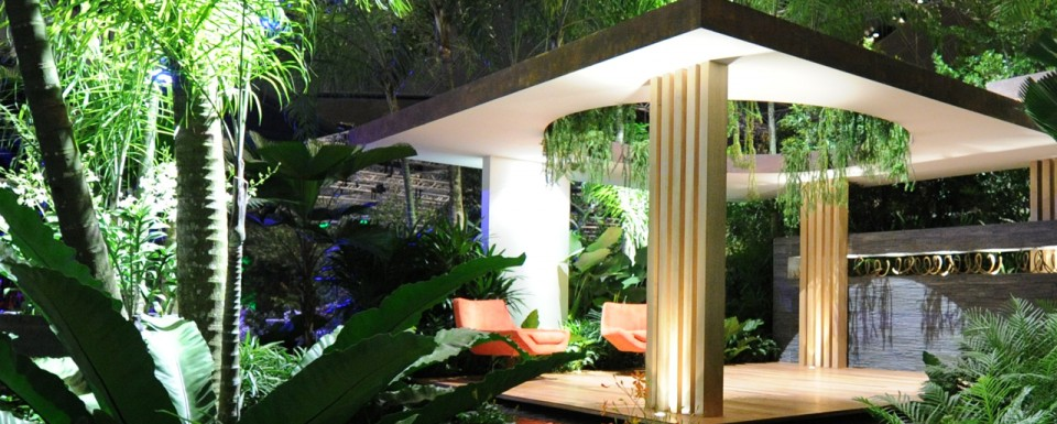 2012 Singapore Garden Festival winner of 2 awards - garden with semi-covered spaces