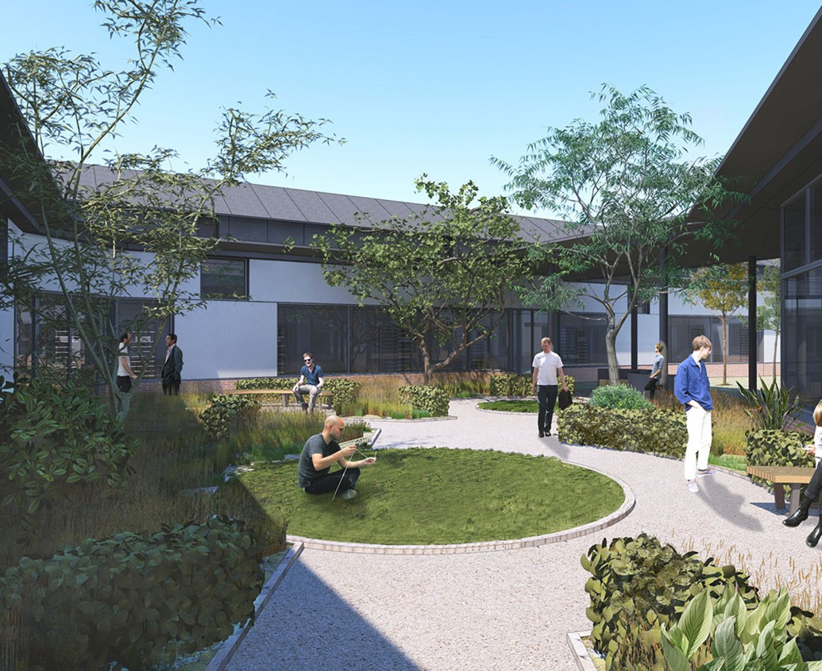 Imagining the gardens in use by patients and staff