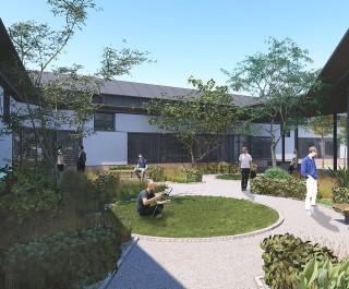 Belfast Acute Mental Health Facility garden courtyard