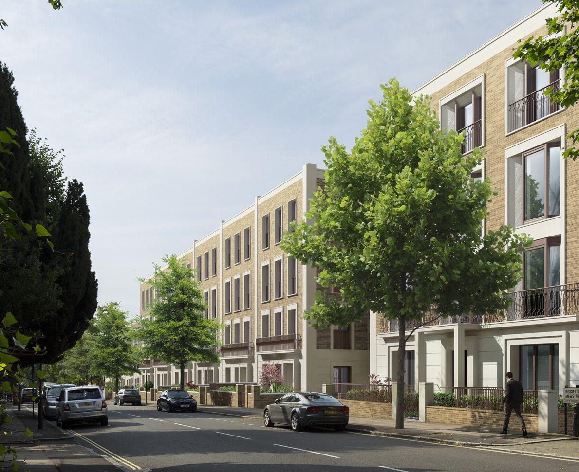 Ordnance Hill, St Johns Wood, London - tree lined street