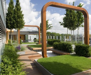 Great Ormond Street Hospital Garden with structural arches