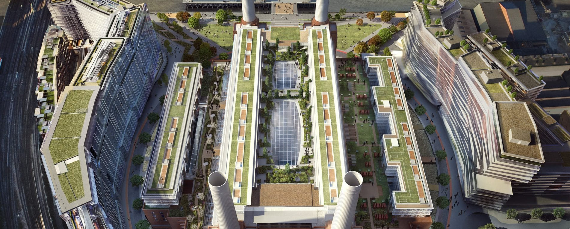 iconic battersea power station - roof gardens revealed