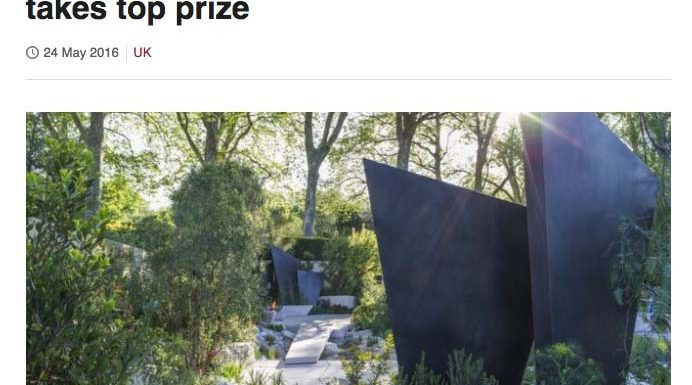2016_05_BBC NEWS_Geological garden takes top prize_Cover