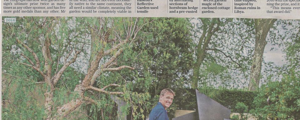 2016_05_The Telegraph_Garden for the ages make history at chelsea_Cover