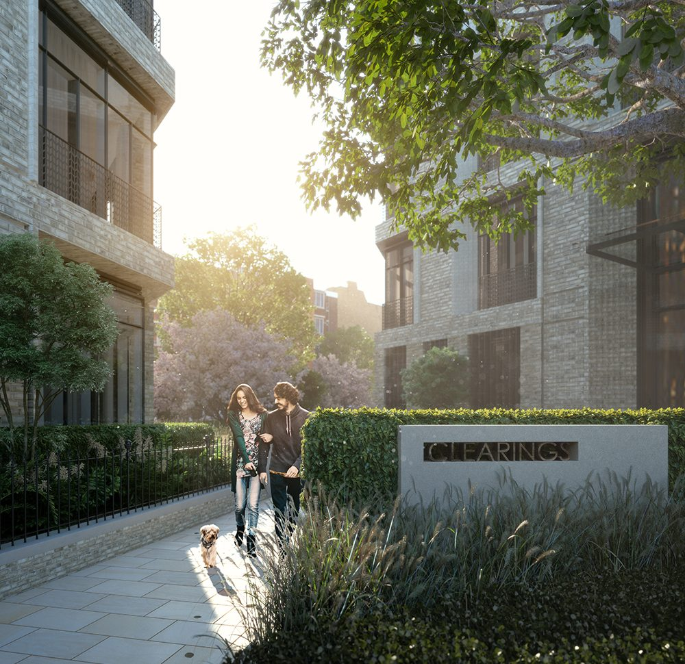 The Clearings Chelsea London Residential Arrival Landscape Andy Sturgeon Design