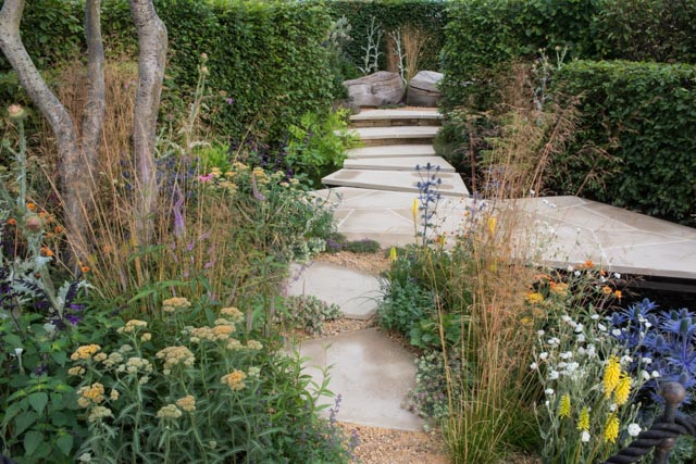 Andy creates the RHS Watch this Space Garden with a 'reuse