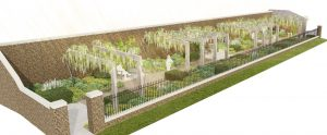 'The Pergola' at The National Trust's Beningbrough Hall Garden near York. Andy Sturgeon Design