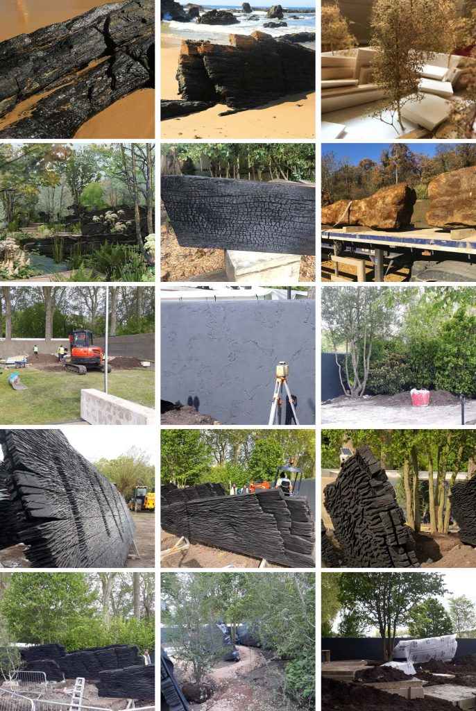 construction started on andy sturgeon u0026 39 s show garden for rhs chelsea flower show 2019